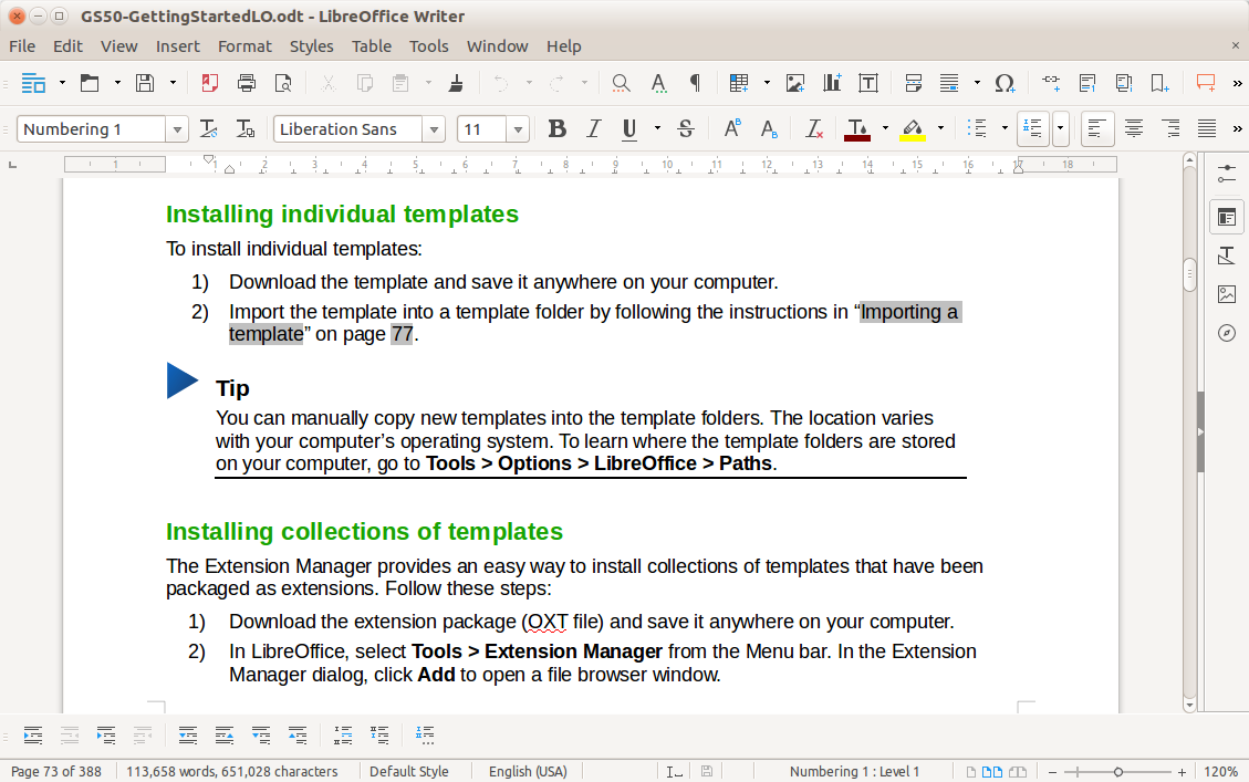 LibreOffice Extensions and Templates
