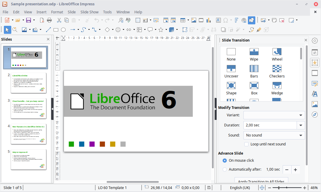 Screenshots | LibreOffice - Free Office Suite - Fun Project