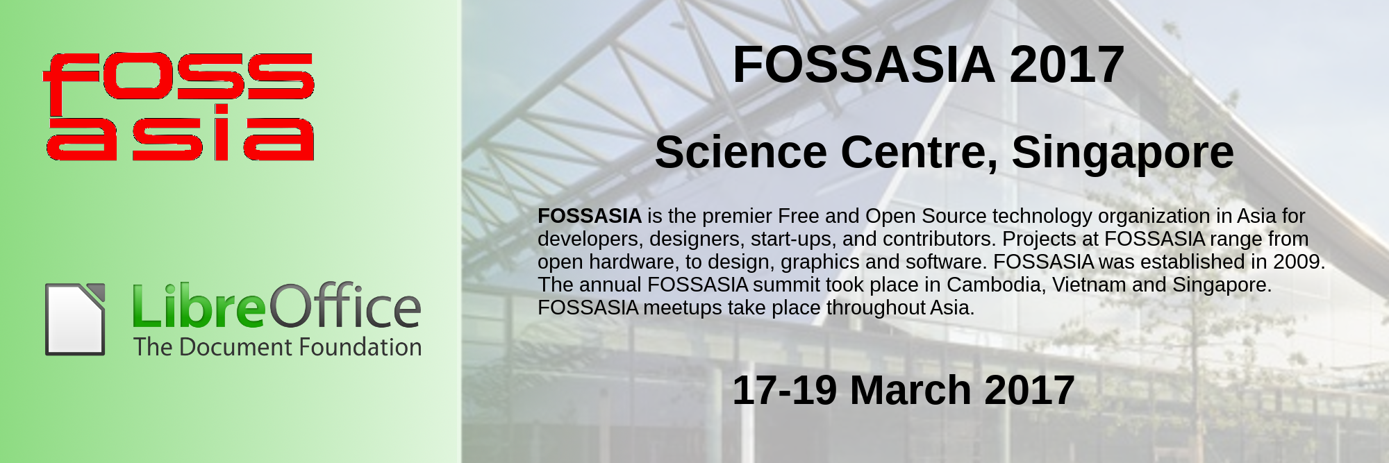 03 17 19Mar2017 FOSSASIA Singapore